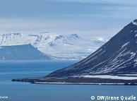 Vista da  Ilha de Spitsbergen, Noruega