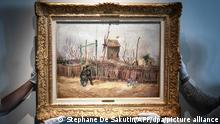 Van Gogh Gemälde wird bei Sotheby's in Paris versteigert | Scene de rue a Montmartre