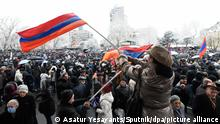 Armenien l Anti-Regierungs-Protest in Yerevan