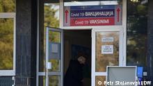 Impfpunkt in Skopje, Nord-Mazedonien (Skopje, Nord-Mazedonien, 25.02.2021) (Skopje, Nord-Mazedonien, impfen, Impfung, Corona, Covid-19) Fotograf: Petr Stojanovski/DW
