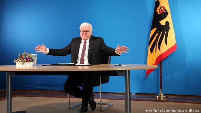 Deutschland Coronavirus l Gespräch über Impfkampagne, Bundespräsident Steinmeier