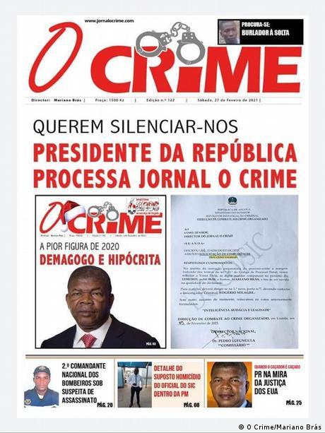 Angola | Cover der Zeitung O Crime