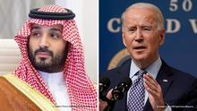 Bildkombo Joe Biden und Mohammed bin Salman