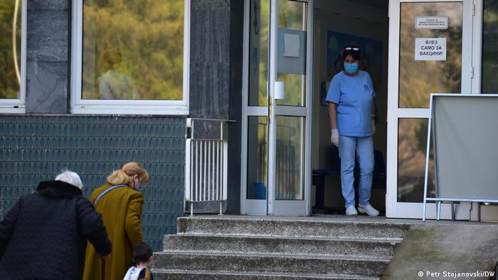 Nord-Mazedonien Impfzentrum in Skopje