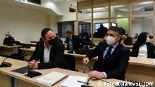Nord-Mazedonien Skopje Gerichtsverhandlung Fall Target - Tvrdina |Saso Mijalkov