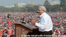 Indien Kalkutta 2019 |CPI Brigade Parade |Sitaram Yechuri, Generalsekretär