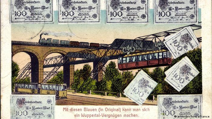 Почтовая открытка из Вупперталя начала XX века. 1912 год