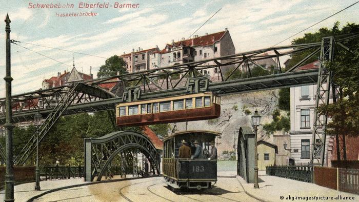 Вупперталь на почтовой открытке 1909 года