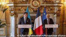 Frankreich Paris |Jean-Yves Le Drian, Außenminister & Dmytro Kuleba, Außenminister Ukraine