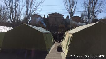 Палаточный городок в Ереване, 26 февраля 2021 года