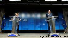 Belgien Brüssel | Pressekonferenz: Charles Michel und Ursula von der Leyen