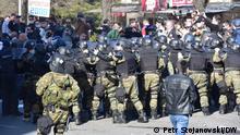 Nord-Mazedonien Skopje Proteste wegen Fall Monstrum