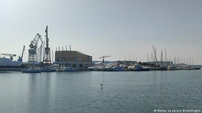 Kroatien Werft Brodotrogir | Wertmitarbeiter protestieren gegen Geschäftsleitung