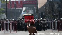 Myanmar   Protestler in Yangon