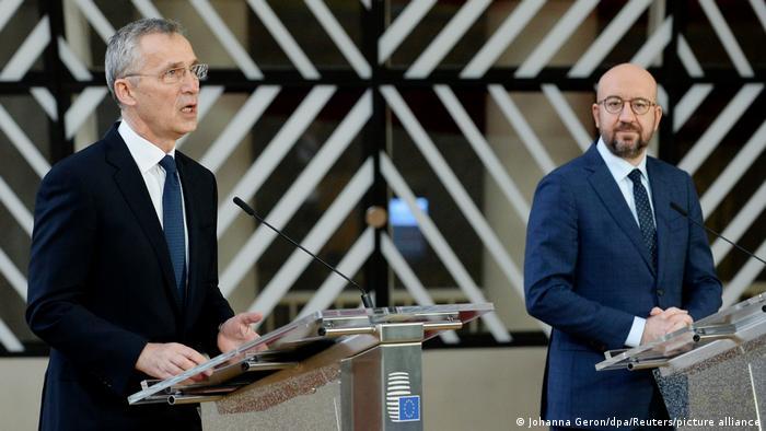NATO Genel Sekreteri Jens Stoltenberg ve AB Konseyi Başkanı Charles Michel