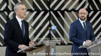 NATO Genel Sekreteri Jens Stoltenberg und AB Konseyi Başkanı Charles Michel