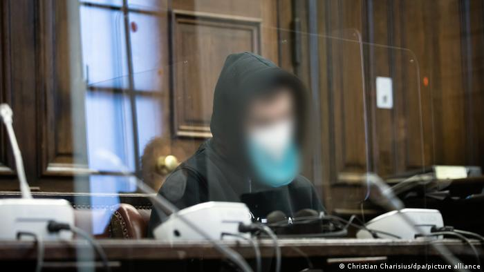 The 29-year-old attacker in a Hamburg courtroom