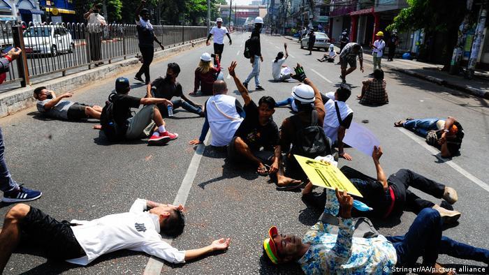 Myanmar, Yangon protests