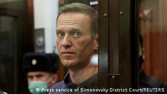 Алексей Навальный в зале суда, фото из архива, 2 февраля 2021 года