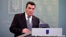 Sekretär des Nationalen Sicherheits- und Verteidigungsrates der Ukraine Oleksij Danilow I Oliksiy Danilov