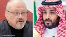 Kombobild Jamal Khashoggi und Mohammed bin Salman