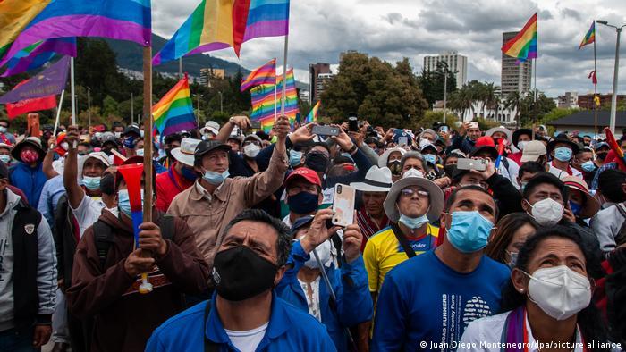 Foto de manifestantes en Quito
