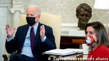 Washington Joe Biden Nancy Pelosi Gespräch Corona Hilfspaket