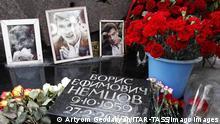 Russland Gedenken an Boris Nemtsov in Moskau
