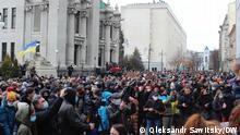Ukraine Protest in der Nähe des Präsidentenbüros
