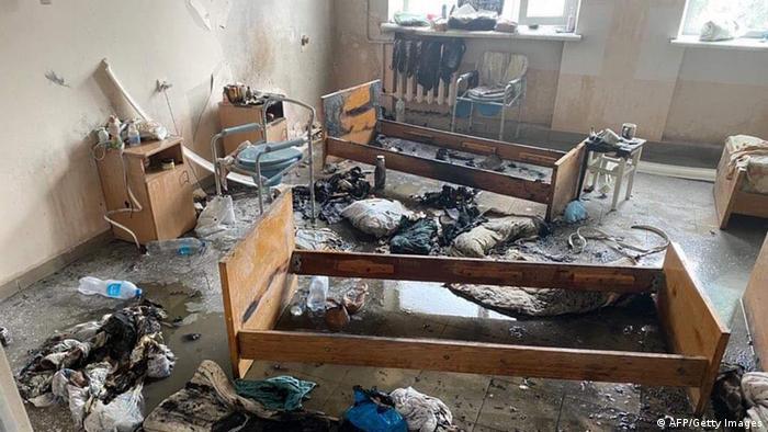 Наслідки пожежі в лікарні в Чернівцях