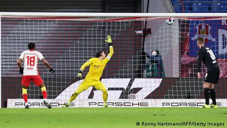 Christopher Nkunku scores Leipzig's first