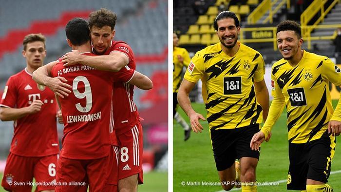 Bildkombo |FC Bayern München und Borussia Dortmund
