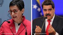 Bildkombo Arancha Gonzalez Laya und Nicolas Maduro