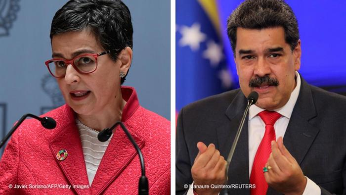 Foto de Arancha Gonzalez Laya y Nicolas Maduro