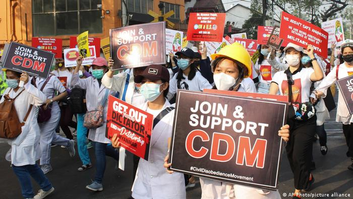 Демонстранти у місті Янгун