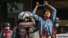 Myanmar Yangon Putsch Proteste Polizei Verhaftung
