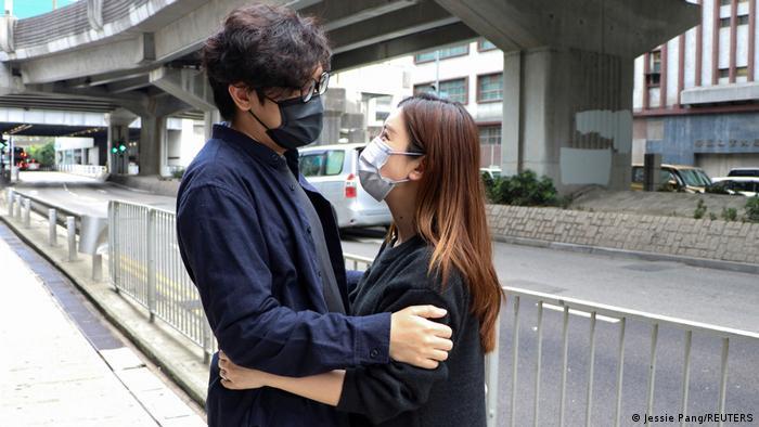 Hongkong Pro-Demokratie Aktivisten Sam Cheung Polizeirevier