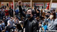 Hongkong Pro-Demokratie Aktivist Mike Lam King-nam Ankunft Polizeirevier