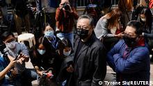 Hongkong Pro-Demokratie Aktivist Benny Tai Ankunft Polizeirevier