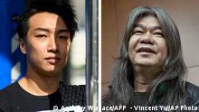 Bildkombination Jimmy Sham und Leung Kwok-hung