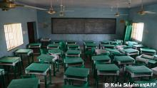 This photograph shows a deserted classroom at the Government Girls Secondary School, the day after the abduction of over 300 schoolgirls by gunmen in Jangebe, a village in Zamfara State, northwest of Nigeria on February 27, 2021. - More than 300 schoolgirls were snatched from dormitories by gunmen in the middle of the night in northwestern Zamfara state on February 26, in the third known mass kidnapping of students since December. (Photo by Kola Sulaimon / AFP)