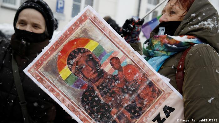 Polen Płock 2021 | Protest, Solidarität mit Aktivisten, LGBT