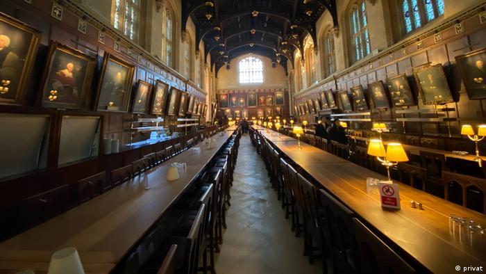 Imagine din interiorul Universităţii Oxford