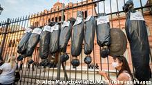 Argentinien Protest gegen Korruption bei der COVID-Impfung