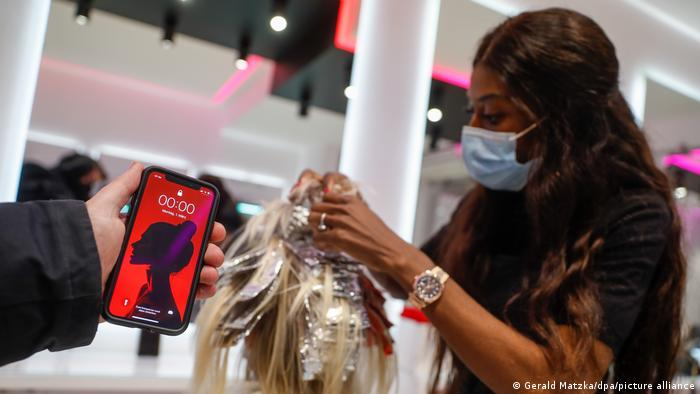 In Berlin, hair salons opened as early as midnight to make the most of the rule change