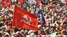 Indien Wahlkampf der Left-Congress-ISF Allianz