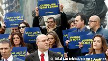 Libanon Beirut Protest für Pressefreiheit