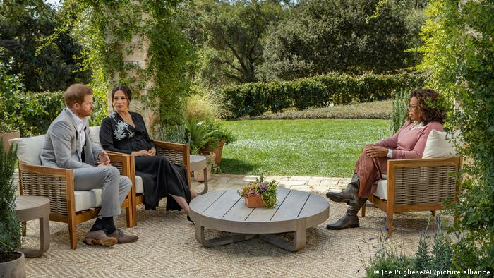 Oprah Winfrey con Meghan y Harry