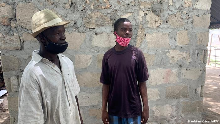 Issa Hamissi (right) was able to escape in the last minute.