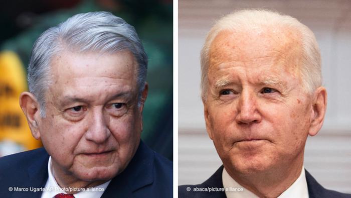 Foto de Andrés Manuel López Obrador y Joe Biden
